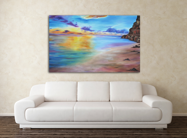 painting-rocky-sunset-room