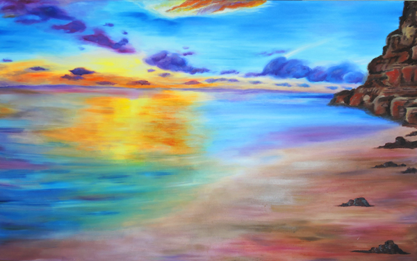 Painting – Rocky Sunset Shore