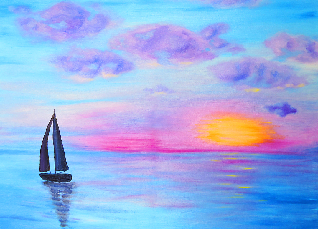Painting-Misty Morning Sail