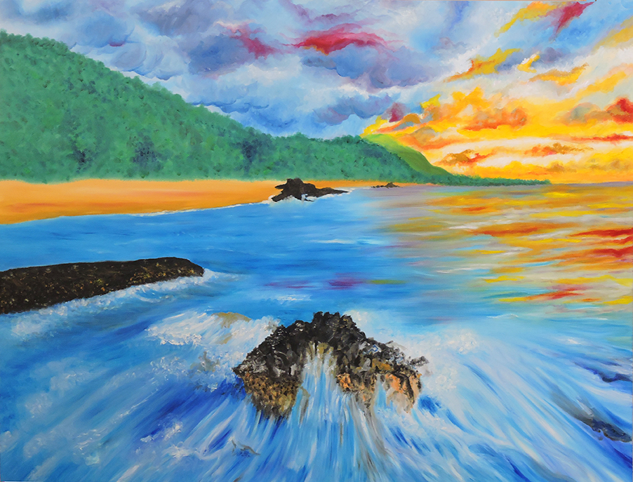 Painting-Edge Of Lumahai