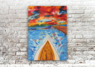 Painting – Fire Sail
