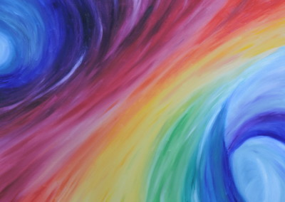 Painting – Lost in the Rainbow Swirl