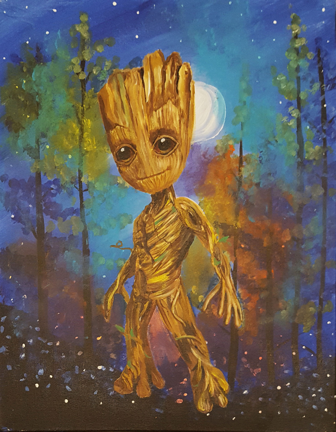 Painting: Into the Eyes of Baby Groot